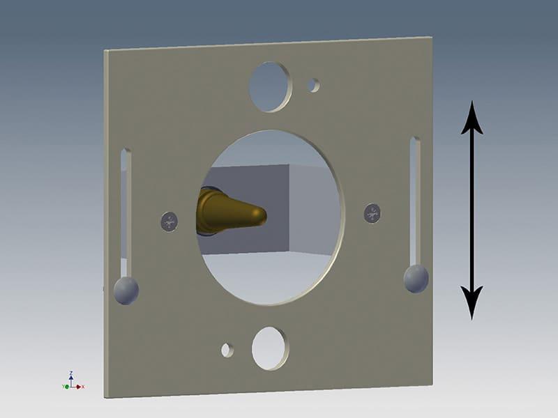 Höhenverstellbarer Nuckel für Lämmer