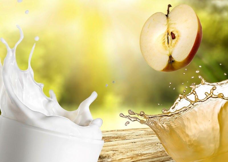 Milch und Saft pasteurisieren